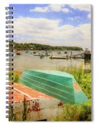 Mackerel Cove Dory And Dinghy   Spiral Notebook