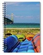 Mackinac Bridge 2240 Spiral Notebook