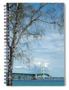 Mackinac Bridge Birch Spiral Notebook