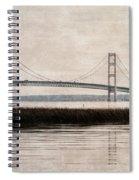 Mackinac Bridge Grunge Spiral Notebook