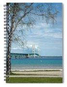 Mackinac Bridge Park Spiral Notebook
