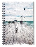 Mackinac Island Michigan Shuttle Pier Pa 02 Spiral Notebook