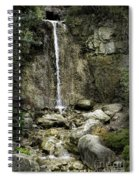 Mackinaw City Park Waterfalls 1 Spiral Notebook