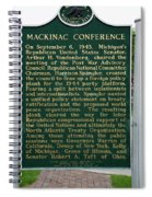 Mackinaw Conference Signage Mackinac Island Michigan Vertical Spiral Notebook