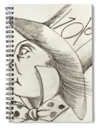 Mad Hatter Spiral Notebook
