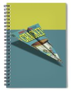 109s Cracked Mad Paper Airplanes Spiral Notebook