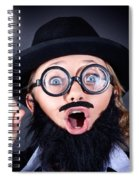 Mad Professor With Light Bulb Breakthrough Spiral Notebook