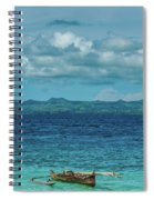 Madagascar, Nosy Be, Small Boat In Sea Spiral Notebook
