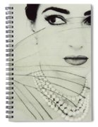 Madam Butterfly - Maria Callas  Spiral Notebook