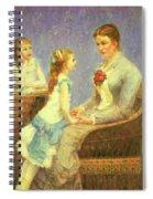 Madame Bouchet Et Ses Filles Spiral Notebook