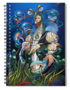 Madame Clawdia D'bouclier From Mask Of The Ancient Mariner Spiral Notebook
