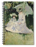 Madame Helleu And Her Daughter At The Chateau Of Boudran Spiral Notebook