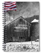 Made In America Red White And Blue Spiral Notebook