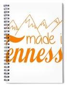 Made In Tennessee Orange Spiral Notebook