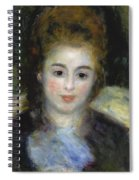Mademoiselle Henriot Or Young Girl With A Blue Ribbon Spiral Notebook