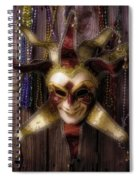 Madi Gras Mask And Beads Spiral Notebook