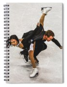 Madison Chock And Evan Bates Spiral Notebook