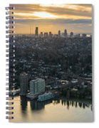 Madison Park And The Seattle Skyline Spiral Notebook