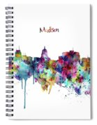 Madison Skyline Silhouette Spiral Notebook