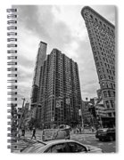 Madison Square Flatiron And Clock Tower New York Ny Black And White Spiral Notebook