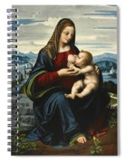 Madonna And Child Before A Landscape Spiral Notebook