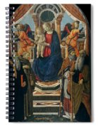 Madonna And Child Enthroned With Saints And Angels Spiral Notebook