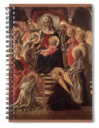 Madonna And Child Enthroned With Saints Fra Filippo Lippi Spiral Notebook