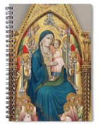 Madonna And Child Enthroned With Twelve Angels Spiral Notebook