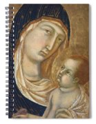 Madonna And Child Fragment  Spiral Notebook