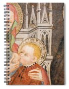 Madonna And Child Fresco, Italy Spiral Notebook