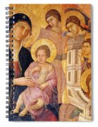 Madonna And Child Surrounded By Angels Spiral Notebook