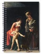 Madonna And Child With A Serpent Spiral Notebook