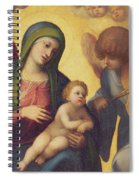 Madonna And Child With Angels Spiral Notebook