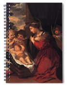Madonna And Child With Child And Angles Spiral Notebook
