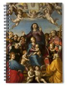 Madonna And Child With Saint Anne And The Patron Saints Of Florence Spiral Notebook