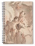 Madonna And Child With Saint Spiral Notebook