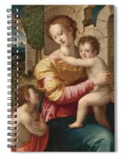 Madonna And Child With Saint John The Baptist Spiral Notebook