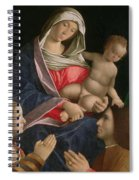 Madonna And Child With Saint John The Baptist Two Saints And Donors Spiral Notebook