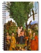 Madonna And Child With Saints Spiral Notebook