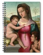 Madonna And Child With The Infant Saint John The Baptist Spiral Notebook