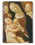 Madonna And Child With Two Angels Spiral Notebook
