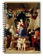 Madonna Del Baldacchino Raffaello Sanzio Da Urbino Raphael Raffaello Santi Spiral Notebook