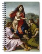 Madonna Della Scala. Virgin Of The Stairs Spiral Notebook