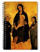 Madonna In Gloria Between Saint Francis And Santa Chiara Gentile Spiral Notebook