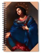 Madonna In Glory Spiral Notebook
