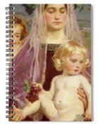 Madonna Of Giverny, 1901 Detail Spiral Notebook