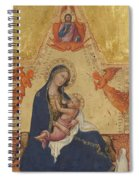 Madonna Of Humility The Blessing Christ Two Angels And A Donor Spiral Notebook