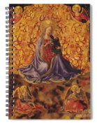 Madonna Of Humility With Christ Child And Angels Spiral Notebook