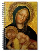Madonna With Child Gentile Da Fabriano 1405 Spiral Notebook