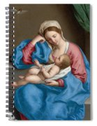 Madonna With The Infant Christ Child Holding A Goldfinch On A String  Spiral Notebook
